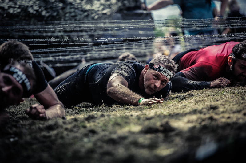 Barbed wire crawl